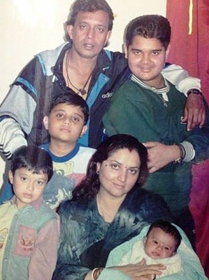 Mithun Chakraborty with his wife Yogita Bali and Children