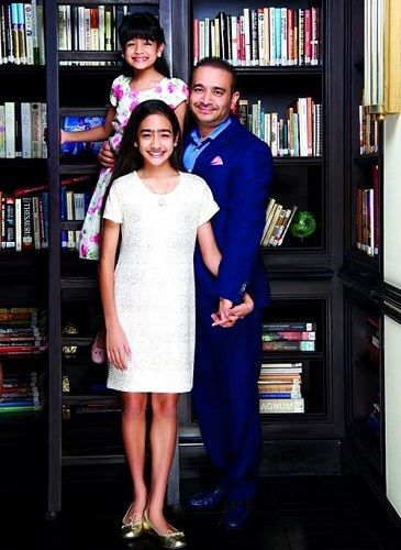 Nirav Modi with his daughters