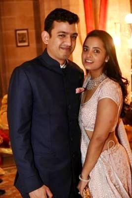 Nishal Modi with his wife
