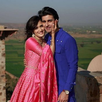Pankhuri Awasthy with Gautam Rode