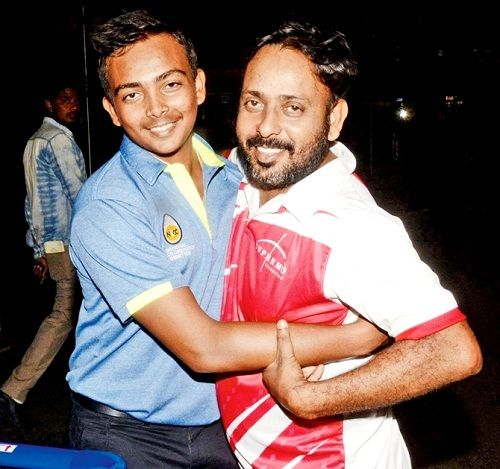 Prithvi Shaw with his father Pankaj Shaw