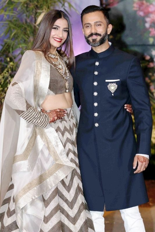 Anand Ahuja and Sonam Kapoor reception