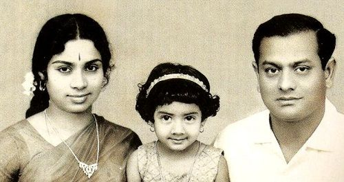 Sridevi (Childhood) with her parents