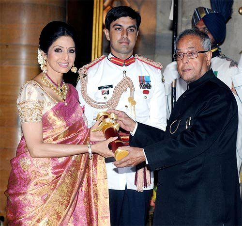 Sridevi received Padma Shri Award