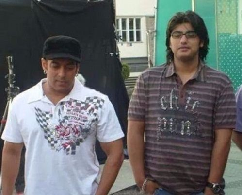 Young Arjun Kapoor with Salman Khan