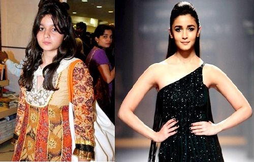 Alia Bhatt then and now