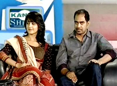 Anushka Shetty with director Krish