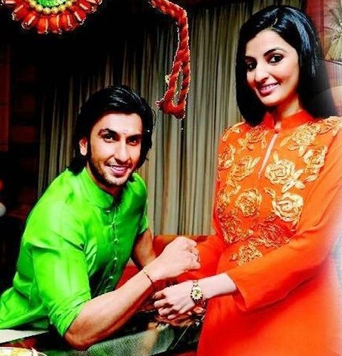 Ranveer Singh with his sister Ritika Bhavnani