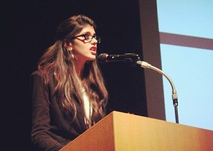Sanjana Sanghi during one of her talks
