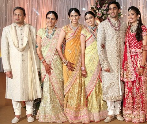 Shloka Mehta with her parents, brother, sister and sister-in-law