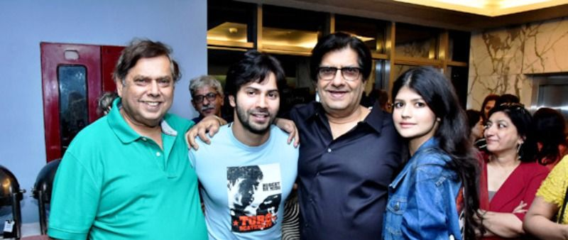 Varun Dhawan With His Father, Uncle and Cousin