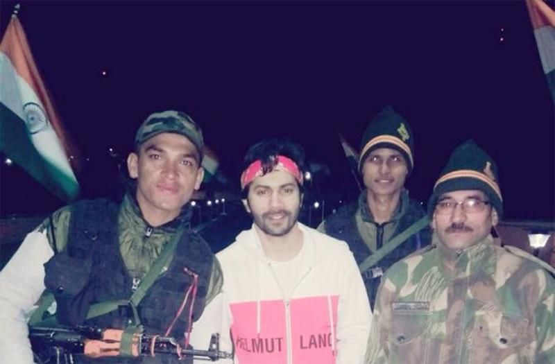 Varun Dhawan With Soldiers