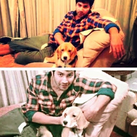 Varun With His Pet Dog-Angel