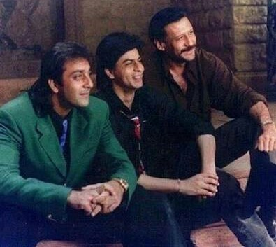 Shahrukh Khan With  Sanjay Dutt And Jackie Shroff