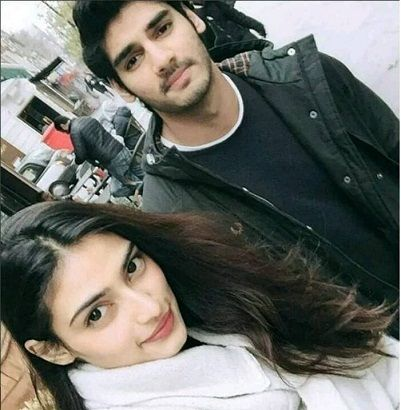 Ahan Shetty with Athiya Shetty