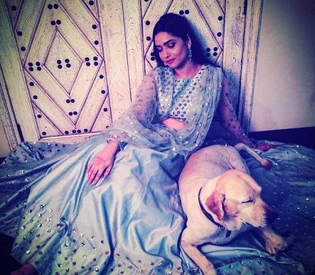 Ankita Lokhande with her pet Scotch