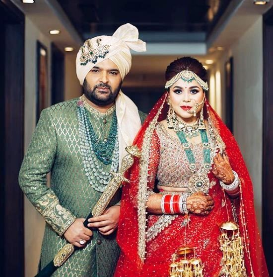 Kapil Sharma and Ginni Chatrath wedding photo