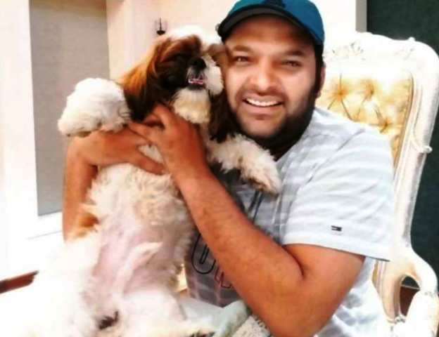 Kapil Sharma with dog