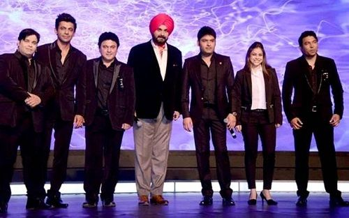 Kapil Sharma with other members of The Kapil Sharma Show