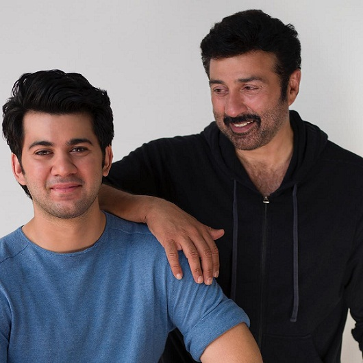 Karan Deol with father Sunny Deol