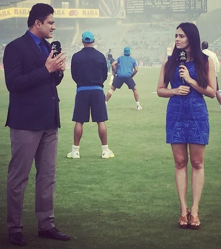 Mayanti Langer With Cricketer Anil Kumble