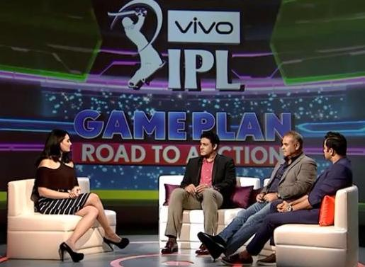 Mayanti Langer With Cricket Experts Anil Kumble, Dav Whatmore and Aakash Chopra Discussing About 2018 IPL