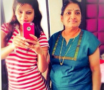 Megha Dhade with her mother