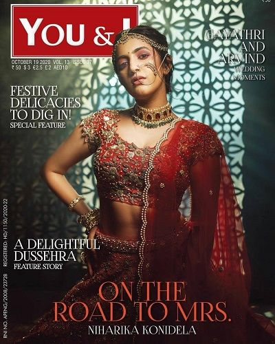 Niharika Konidela Featured on a Magazine Cover