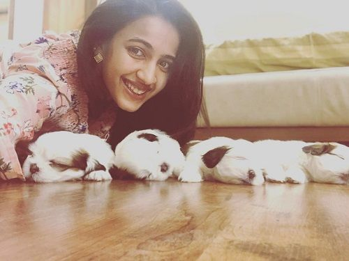 Niharika Konidela With Her Pet Dogs
