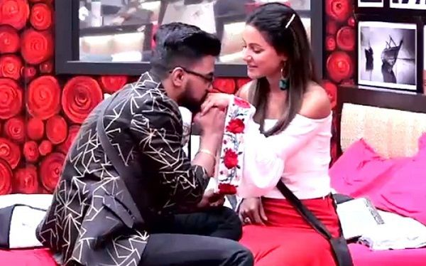 Rocky Jaiswal with Hina Khan in Bigg Boss House