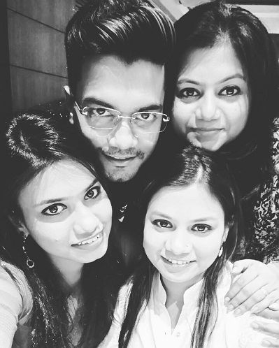 Rocky Jaiswal with his three sisters