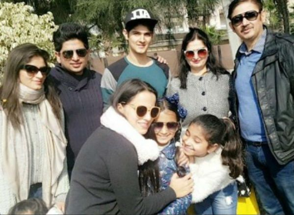 Rohan Mehra with his family
