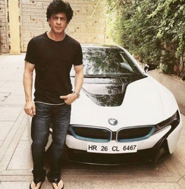 Shah Rukh Posing With His BMW i8
