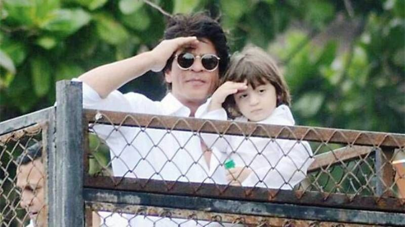 Shah Rukh With His Son AbRam
