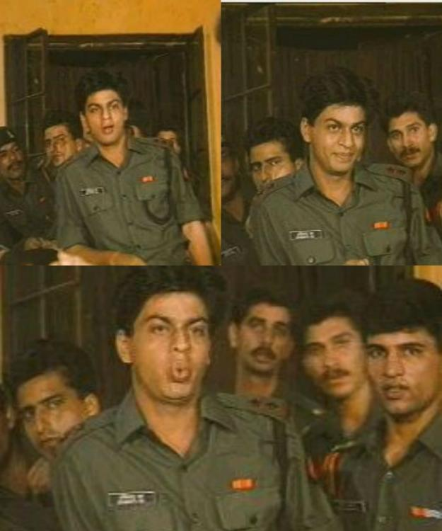 Shahrukh Khan In The Serial 'Fauji'
