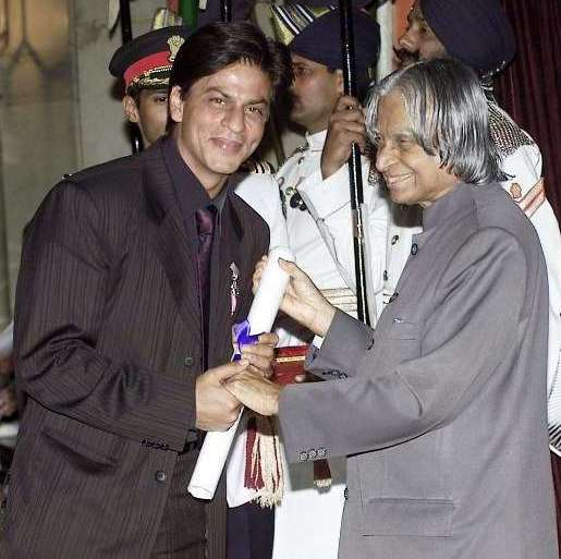 Shahrukh Khan Receiving Padma Shri Award