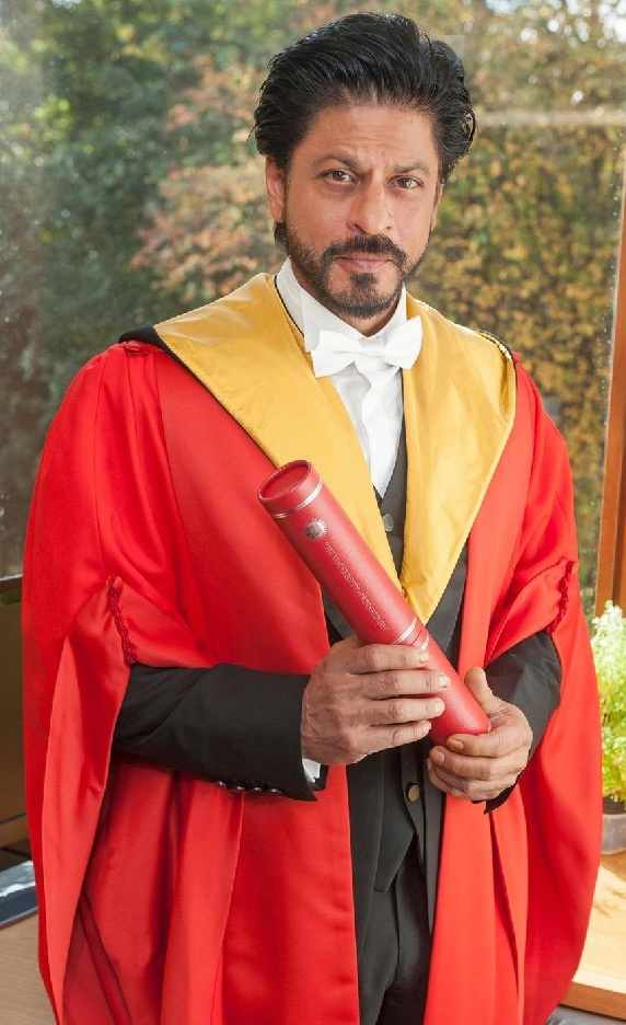 Shahrukh Khan With Doctorate Honour From The University Of Edinburgh
