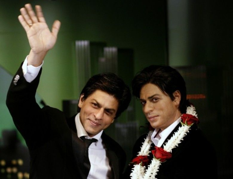 Shahrukh Khan With His Wax Statue At London's Madame Tussaud's Museum