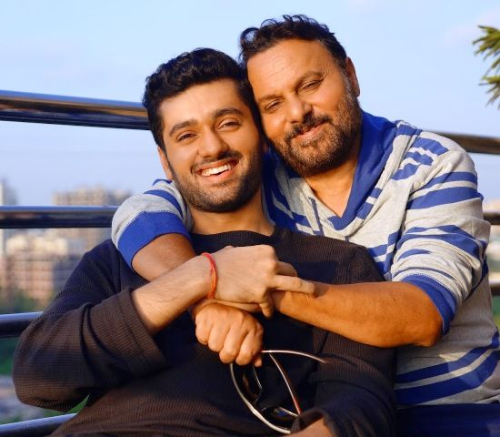 Utkarsh Sharma with his father