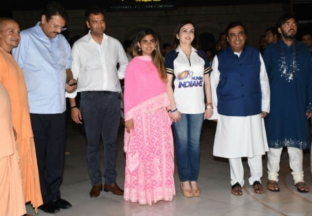 Anand Piramal's Family Members Celebrated The Occasion Of Anand Piramal And Isha Ambani's Engagement At ISKCON Temple