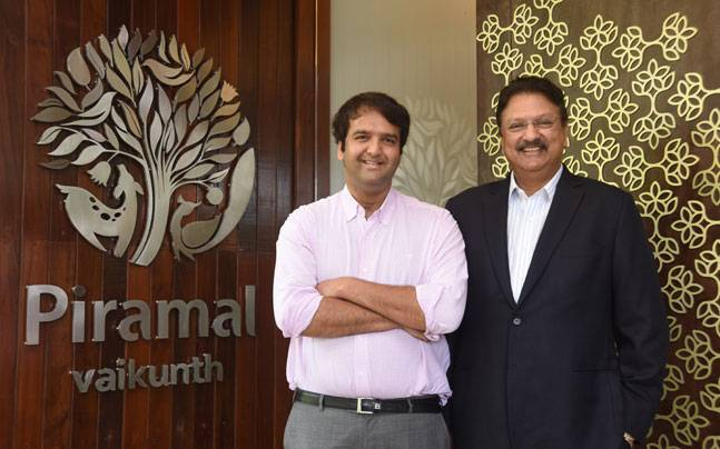 Ajay Piramal With His Son Anand Piramal