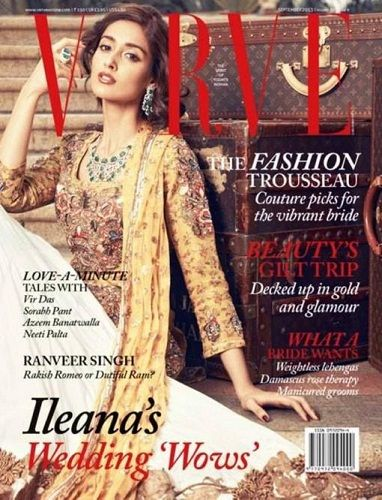 Ileana D'Cruz on cover of Verve magazine