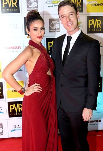 Andrew Kneebone with Ileana D'Cruz