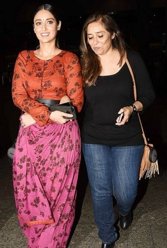 Ileana D'Cruz with her mother Samira D'Cruz