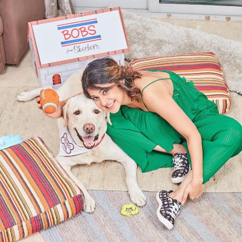 Jennifer Winget with her pet dog