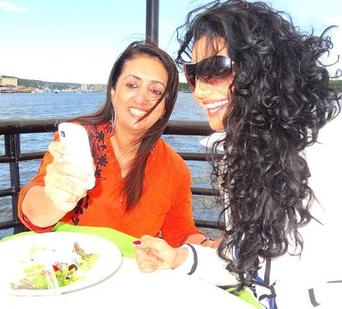 Mahek Chahal with her mother