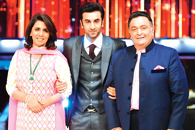 Ranbir Kapoor With His Parents