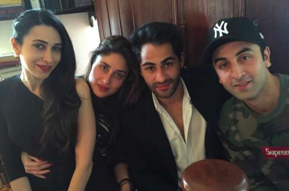 Ranbir Kapoor With Kareena Kapoor, Karisma Kapoor, And Armaan Kapoor