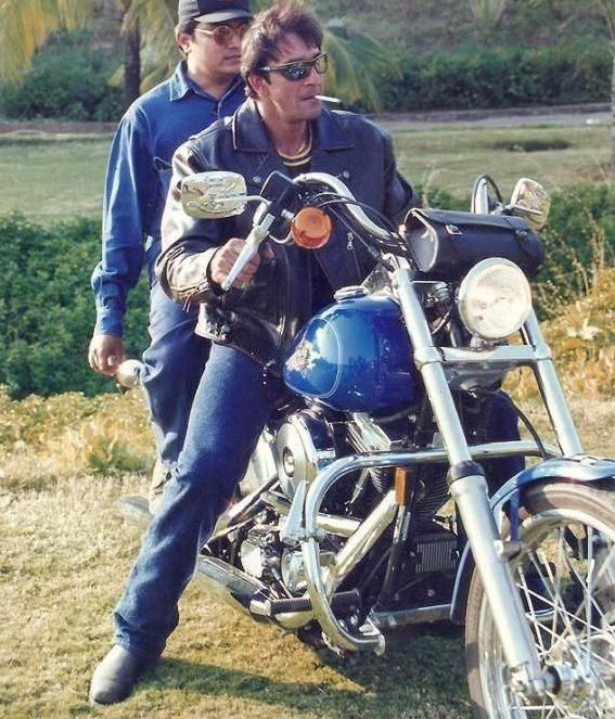Sanjay Dutt On His Bike