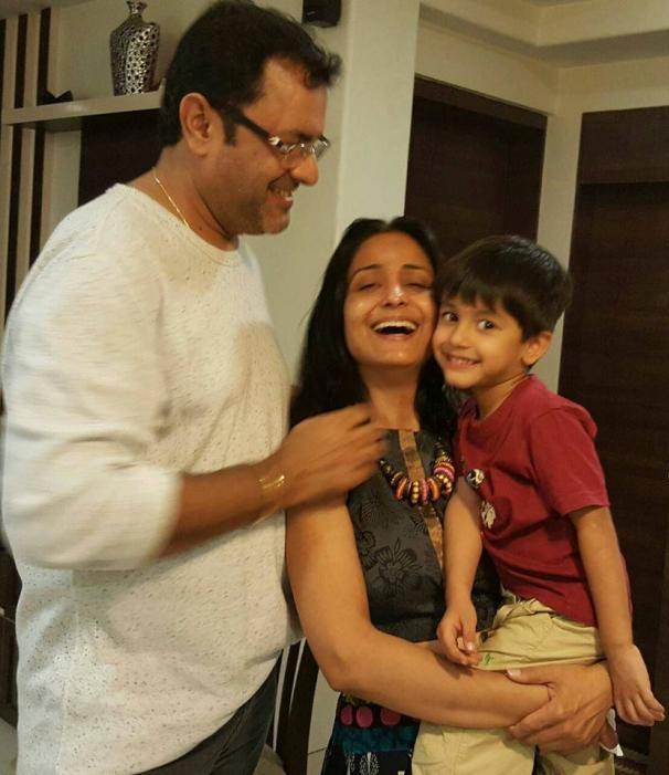 Sanjeev Seth With His Second Wife And Child